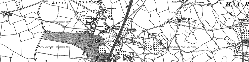 Old map of Haresfield in 1882