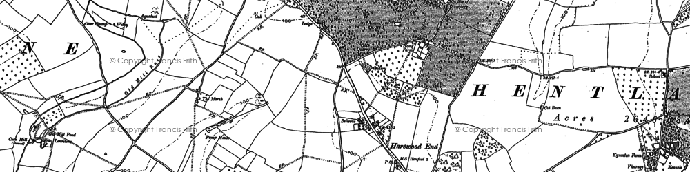 Old map of Windmill Hill in 1887