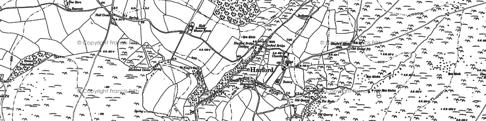 Old map of Harford in 1886