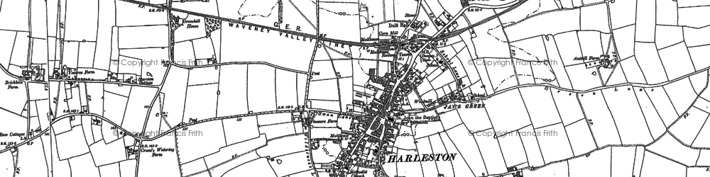 Old map of Anthills in 1883