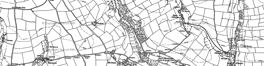 Old map of Alston in 1884