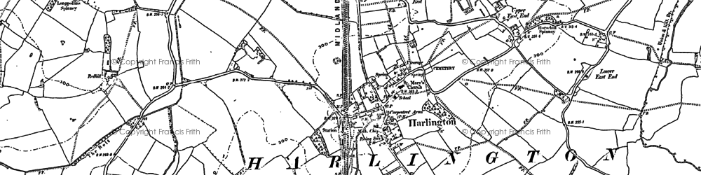 Old map of Harlington in 1881