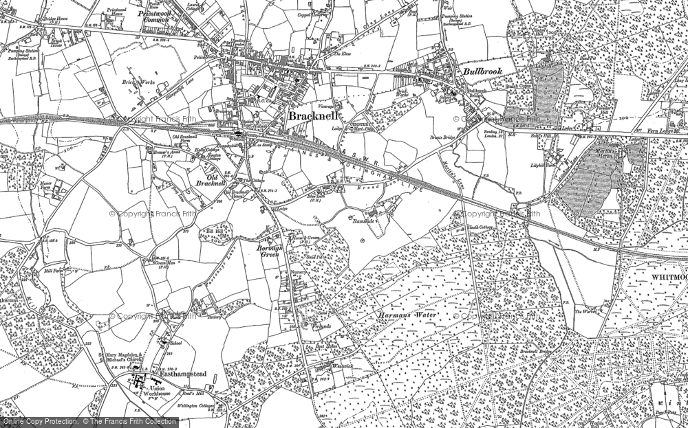 Old Map of Harmans Water, 1898 - 1910 in 1898