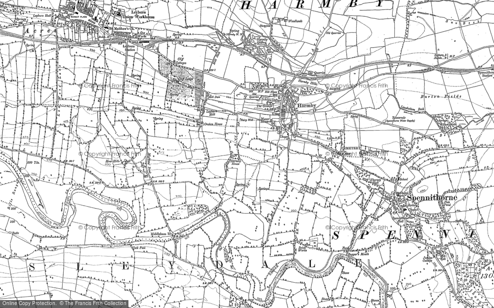 Old Map of Historic Map covering Woodlands in 1891