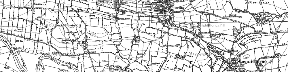 Old map of Harmby in 1891
