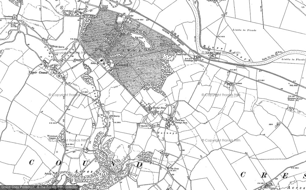 Old Map of Historic Map covering Leasowes in 1882