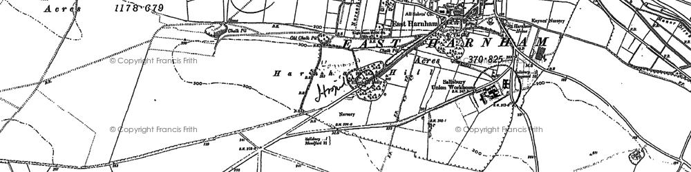 Old map of Harnham in 1900