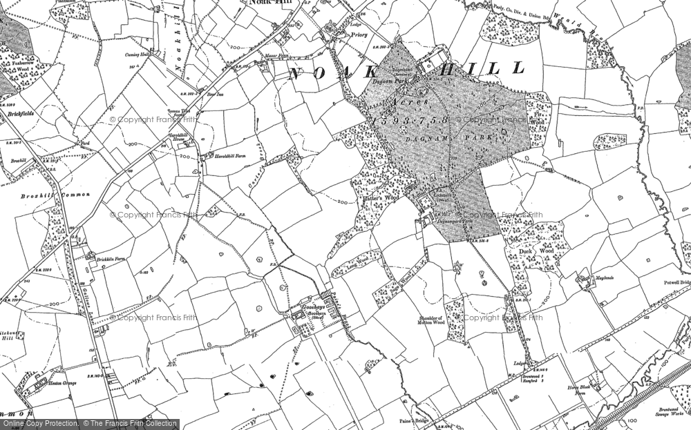 Map of Harold Hill, 1895