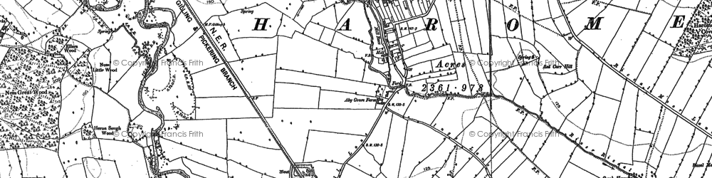 Old map of West Newton Grange in 1891