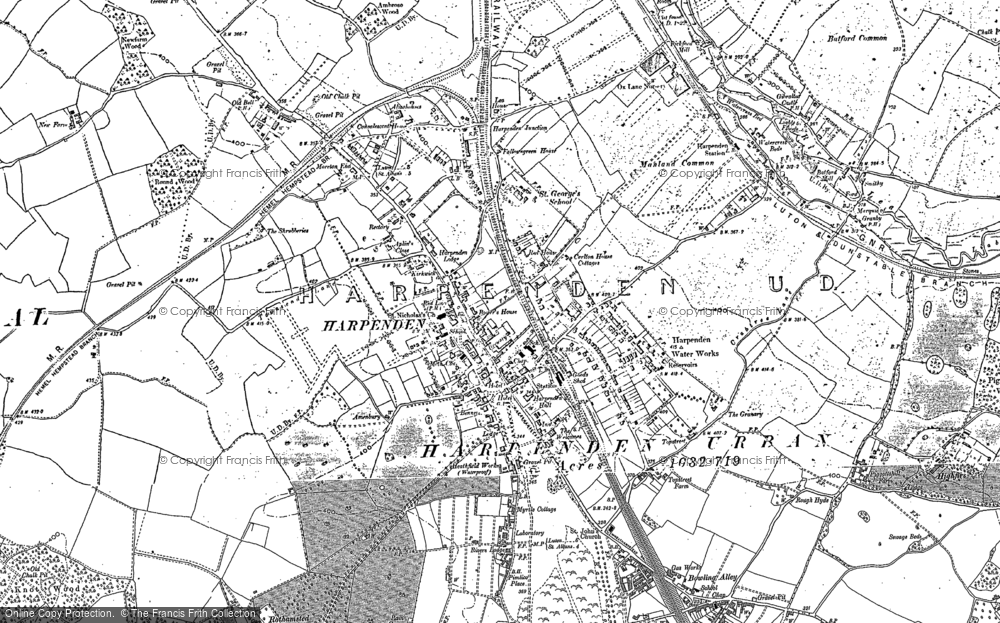 Old Map of Harpenden, 1897 - 1899 in 1897