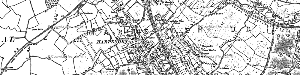 Old map of Batford in 1897