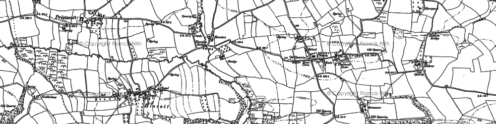 Old map of Yelland in 1886