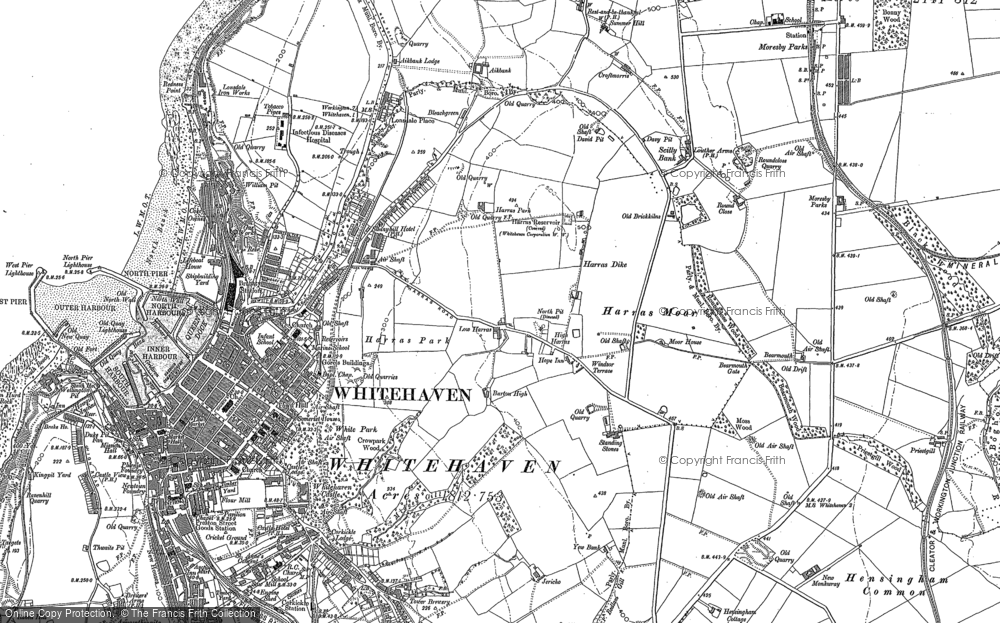 Old Map of Harras, 1923 in 1923