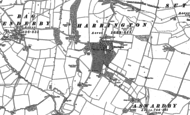 Old Map of Harrington, 1887