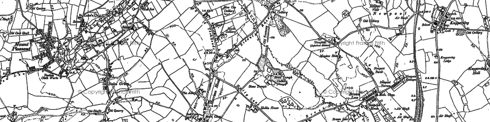 Old map of Thursfield Lodge in 1878