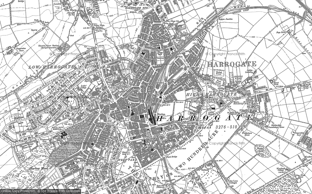 Old Map of Harrogate, 1883 - 1890 in 1883