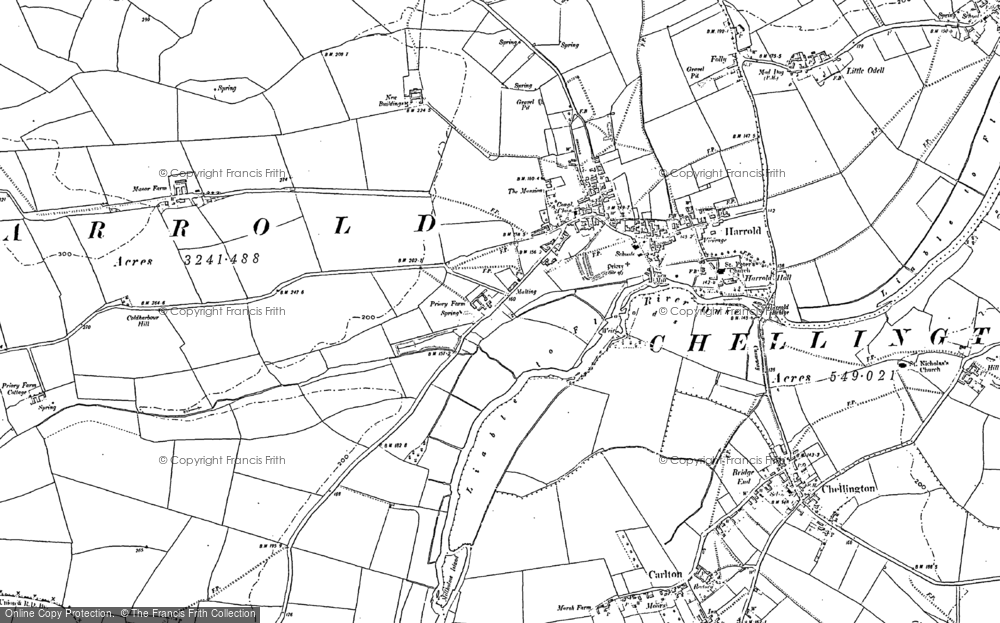 Old Map of Historic Map covering Lavendon Wood in 1900