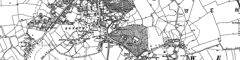 Old map of Harrow on the Hill in 1895