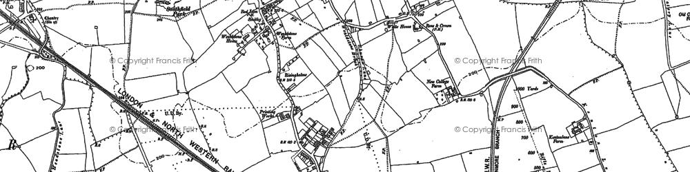 Old map of Harrow Weald in 1895