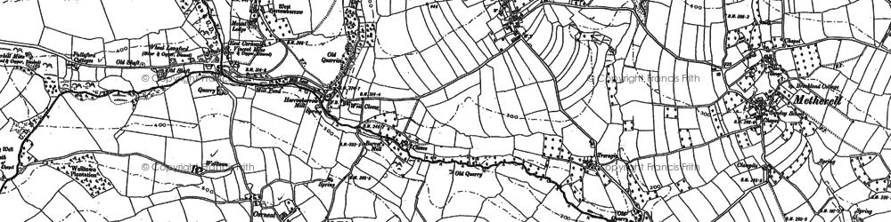 Old map of Harrowbarrow in 1905