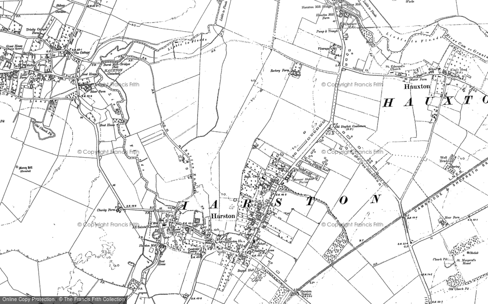 Old Map of Harston, 1885 - 1886 in 1885