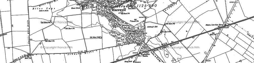 Old map of Woodlands in 1889