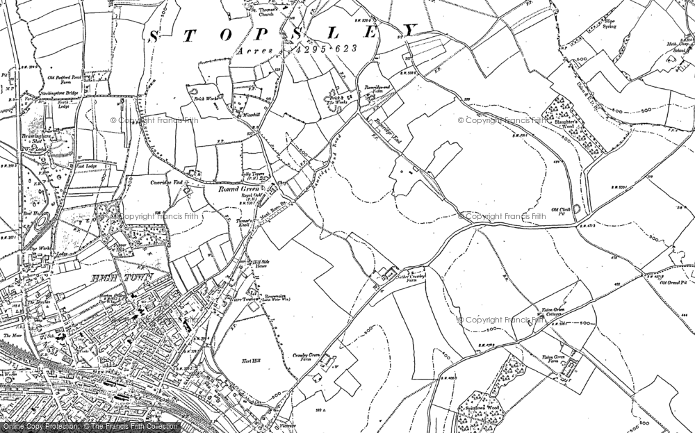 Old Map of Hart Hill, 1879 - 1899 in 1879