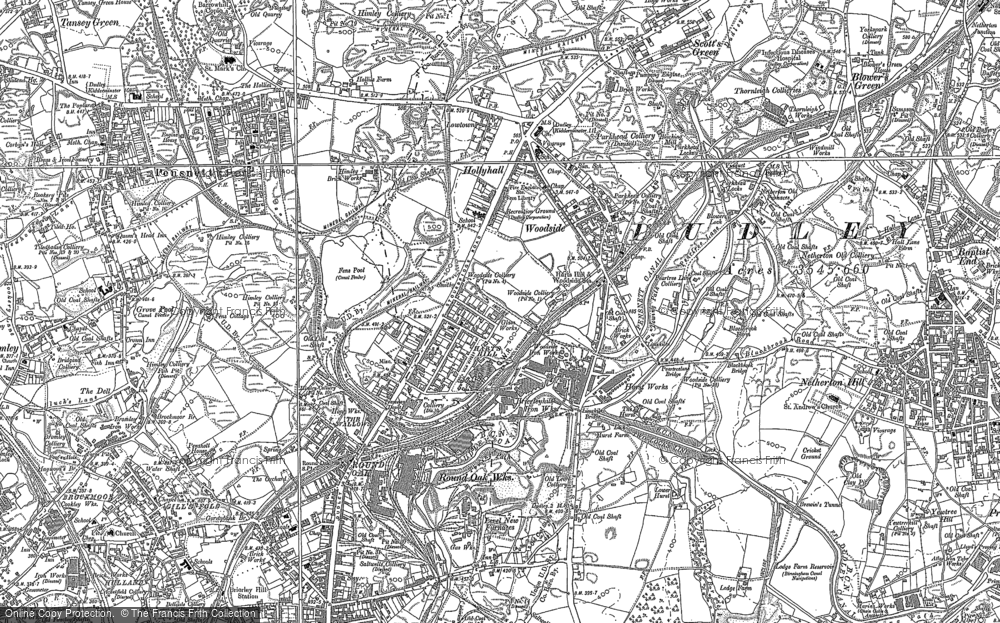 Old Map of Hart's Hill, 1881 - 1901 in 1881