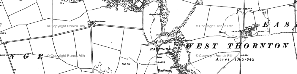Old map of Low Angerton in 1895