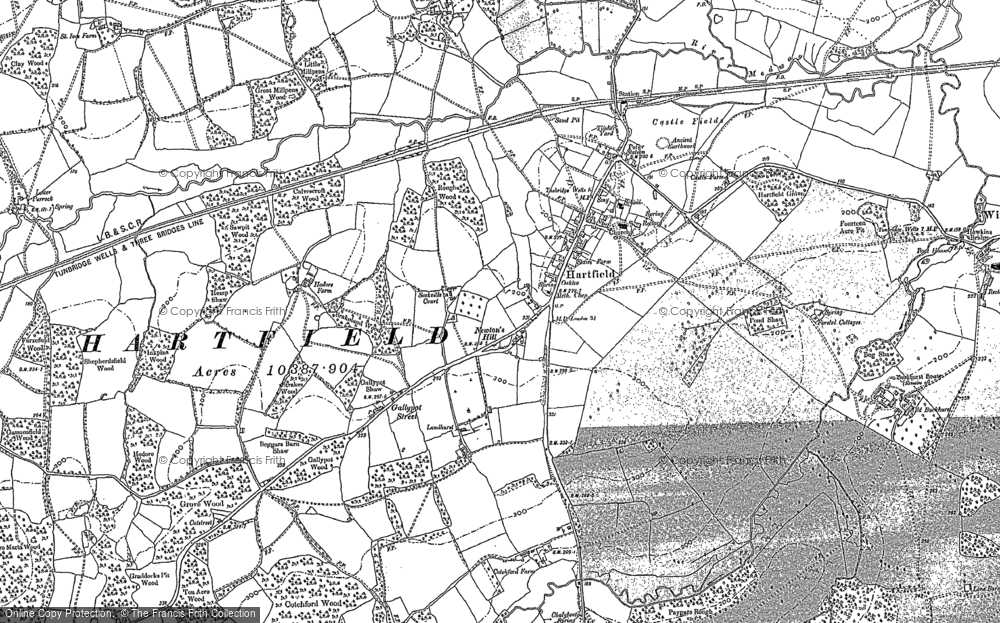 Old Map of Hartfield, 1908 in 1908