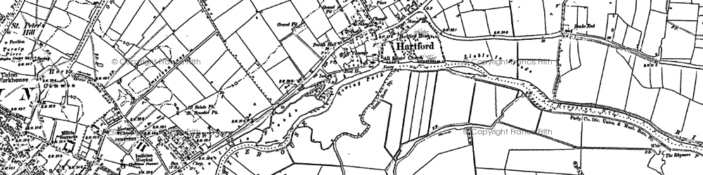 Old map of Hartford in 1885