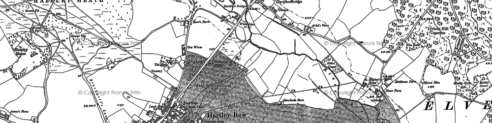 Old map of Elvetham Hall in 1909