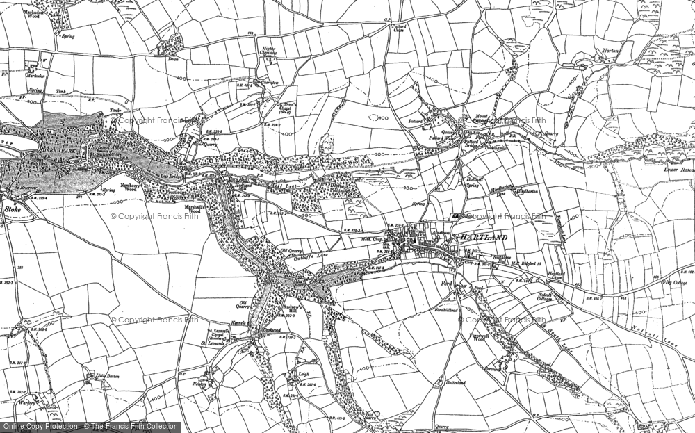 Old Map of Historic Map covering Abbey River in 1904