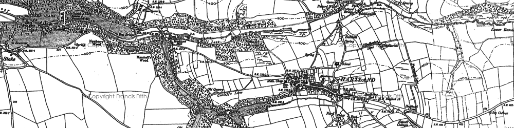 Old map of Hartland in 1904