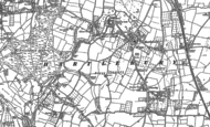 Old Map of Hartlebury, 1883
