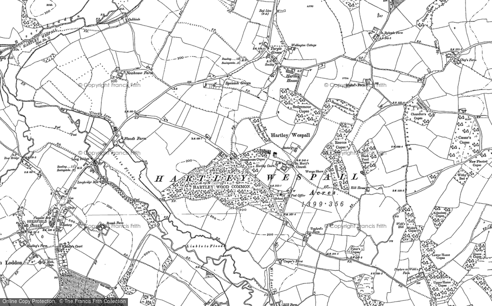 Old Map of Hartley Wespall, 1894 in 1894