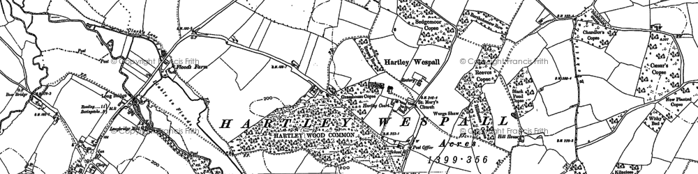 Old map of Hartley Wespall in 1894