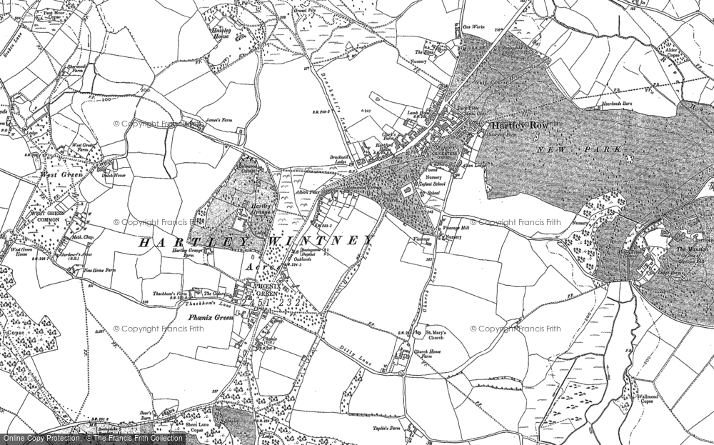 Old Map of Historic Map covering Ashley in 1894