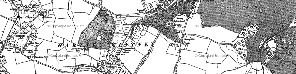 Old map of Winchfield Ho in 1894
