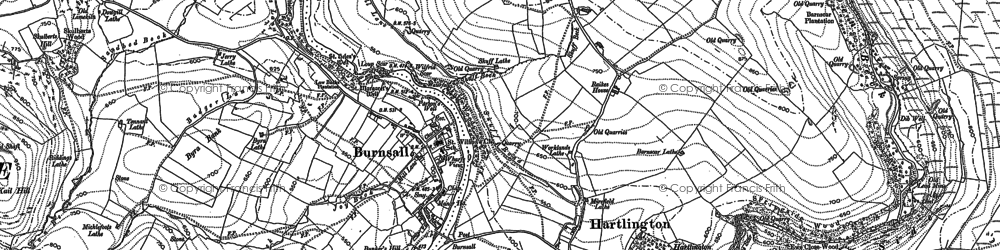 Old map of Bank Top in 1907
