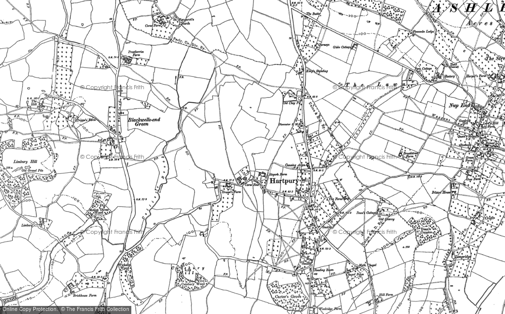 Old Map of Historic Map covering Woolridge in 1882