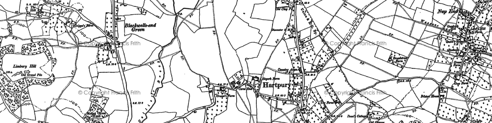 Old map of Hartpury in 1882