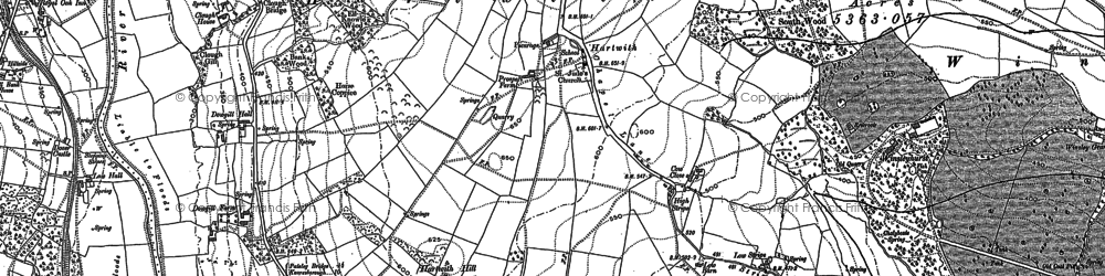 Old map of Winsleyhurst in 1907