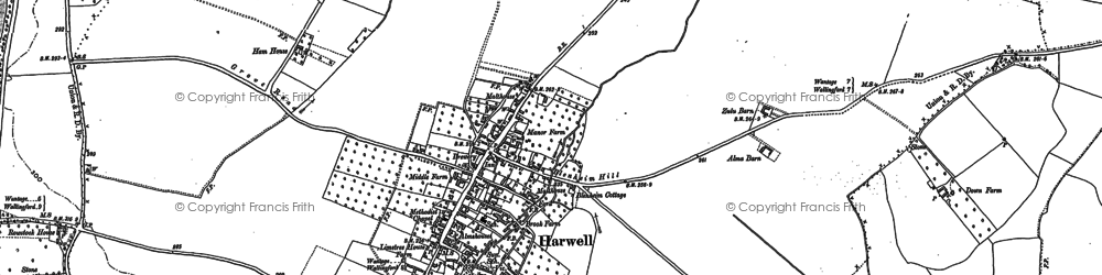 Old map of Harwell in 1898