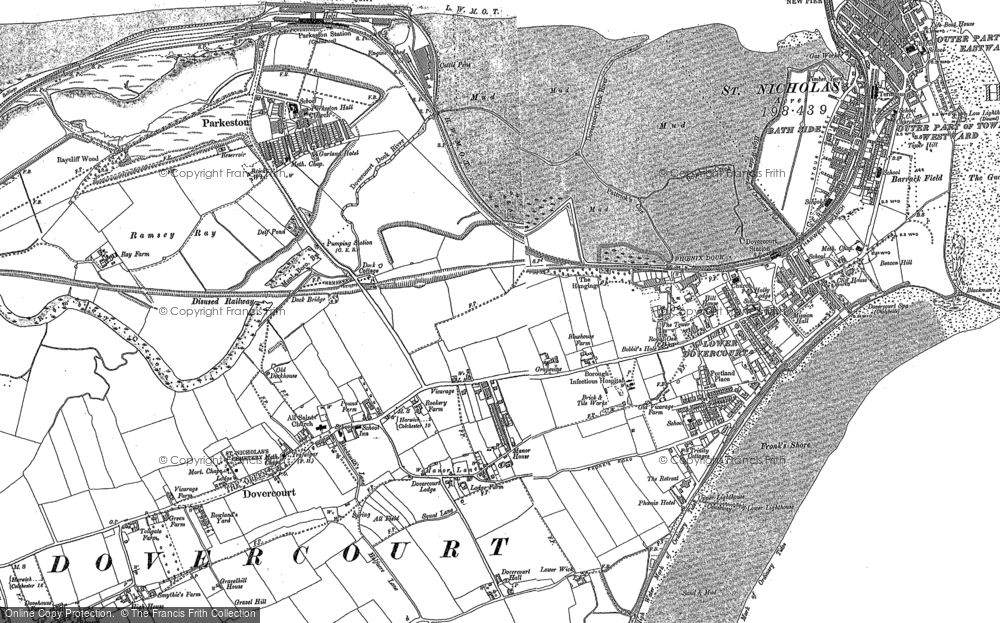Old Map of Harwich, 1896 - 1902 in 1896