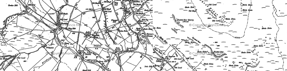 Old map of Widdybank Fell in 1896
