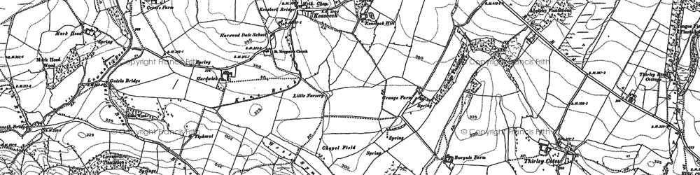 Old map of West Syme in 1910