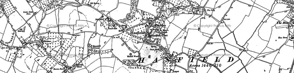 Old map of Wickridge Street in 1883