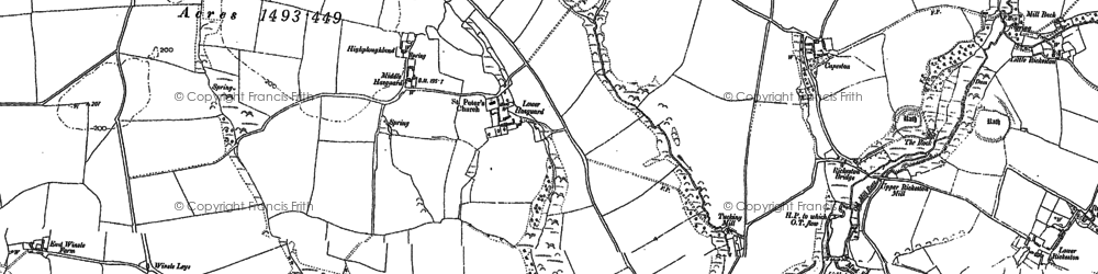 Old map of Winsle in 1948