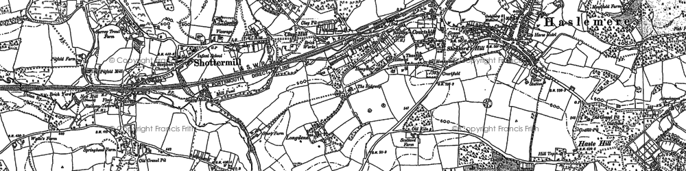 Old map of Haslemere in 1913